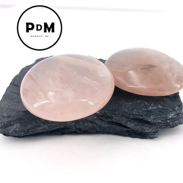 Galet quartz rose 30-50 mm