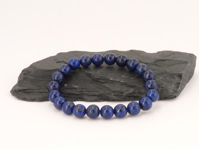 Bracelet Boule 8 mm Lapis Lazuli
