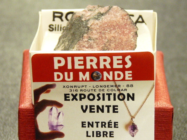 Pierre Brut De Collection Rhodonite