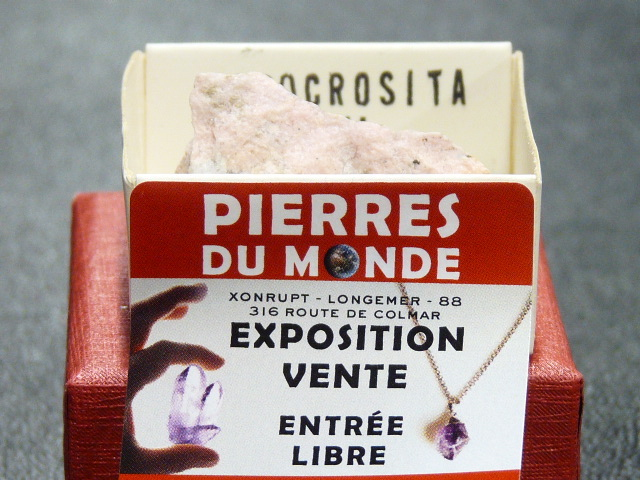 Pierre Brut De Collection Rhodochrosite