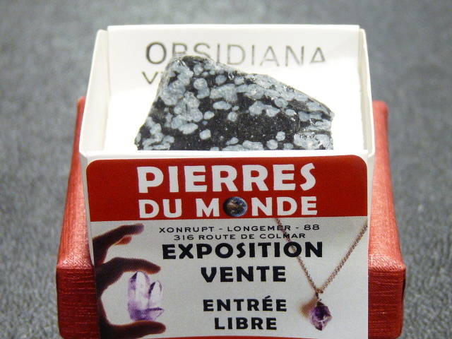 Pierre Brut De Collection Obsidienne Neige