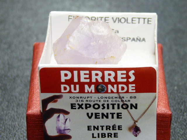 Pierre Brut De Collection Fluorite Violette