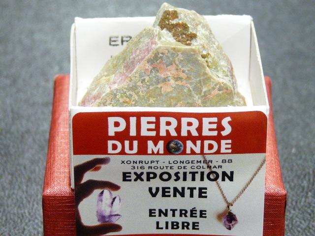 Pierre Brut De Collection Erythrite Unakite