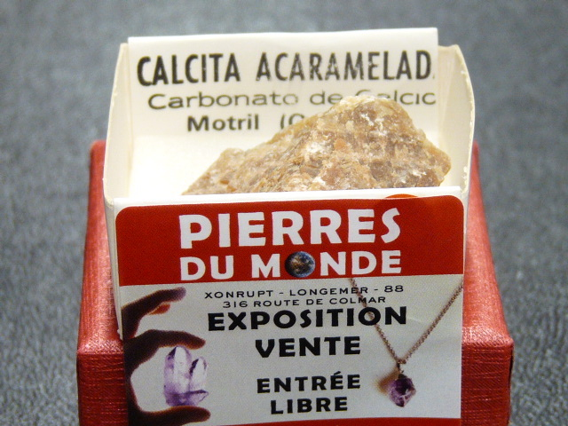 Pierre Brut De Collection Calcite Miel