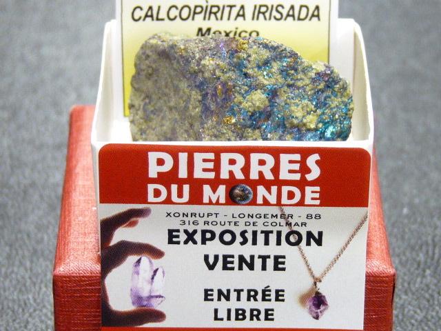 Pierre Brut De Collection Chalcopyrite Irise