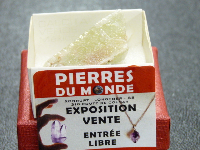 Pierre Brut De Collection Calcite Verte