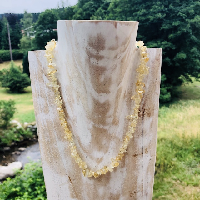Collier Baroque 42 cm Citrine