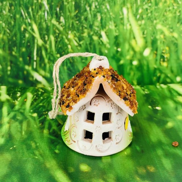 Maison clochette décorative en céramique et Ambre