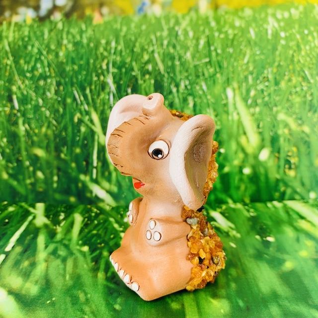 Eléphant décoratif GM en céramique et Ambre
