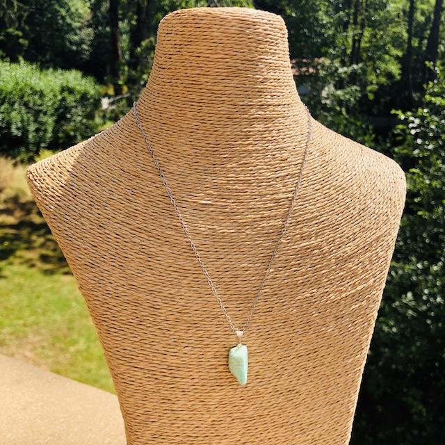 Pendentif  Amazonite forme libre pierre naturelle