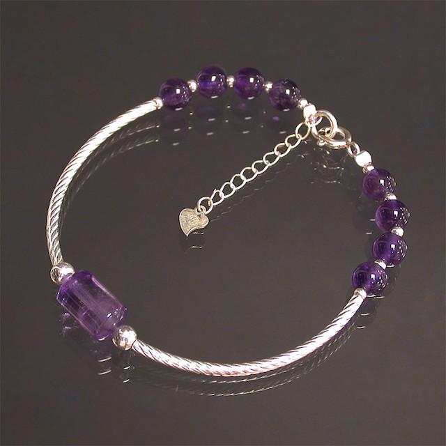 Bracelet perle Améthyste et argent 925