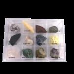 boite-de-collections-12-douze-mineraux-pierres-amethyste-malachite-obsidienne-sodalite-soufre-quartz-rose-micas-calcite-jaspe-stromatolite-albatre-opaline-pierres-du-monde-vosges-1