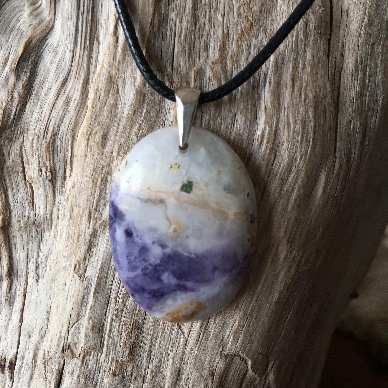 Pendentif Opale Morado Flamme violette