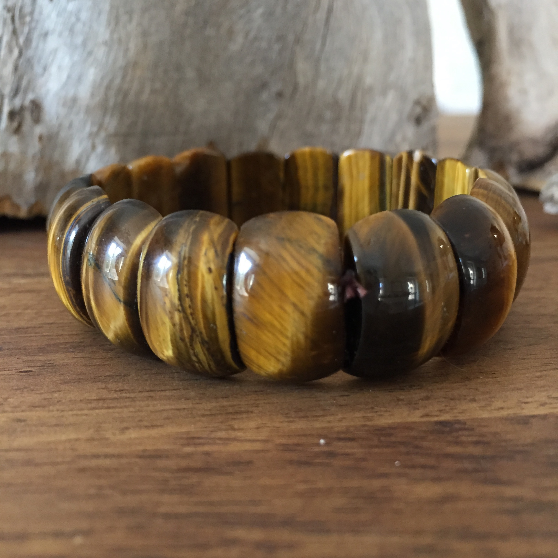 bracelet manchette oeil de tigre