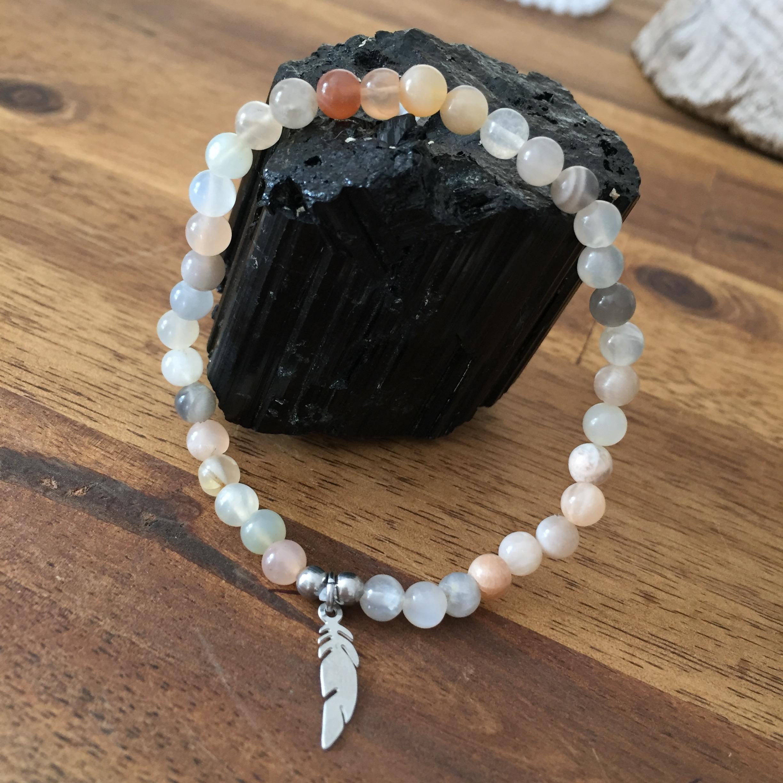 FEMINITE bracelet pierre de lune