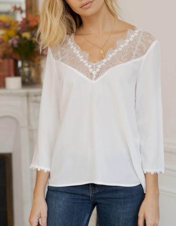 La blouse Edith blanche