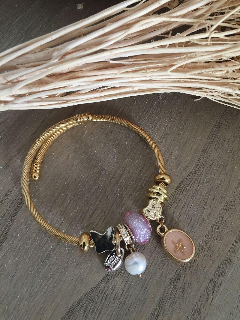 Le bracelet Lena rose