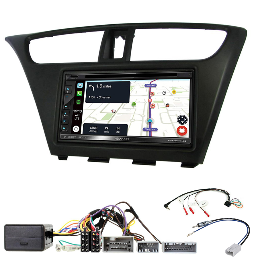 Kit d\'intégration Honda Civic de 2012 à 2016 + Autoradio tactile Navigation GPS