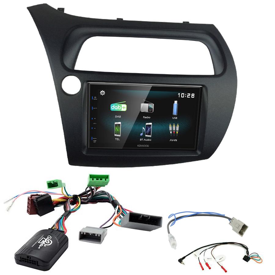 Kit d\'intégration Honda Civic de 2006 à 2011 + Autoradio multimédia à écran tactile