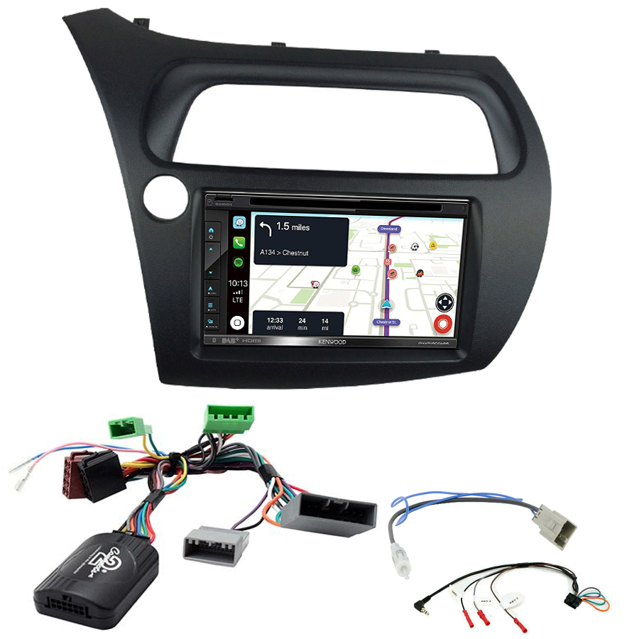 Kit d\'intégration Honda Civic de 2006 à 2011 + Autoradio tactile Navigation GPS