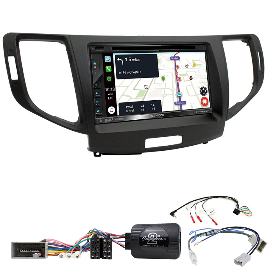 Kit d\'intégration Honda Accord de 2008 à 2013 + Autoradio tactile Navigation GPS