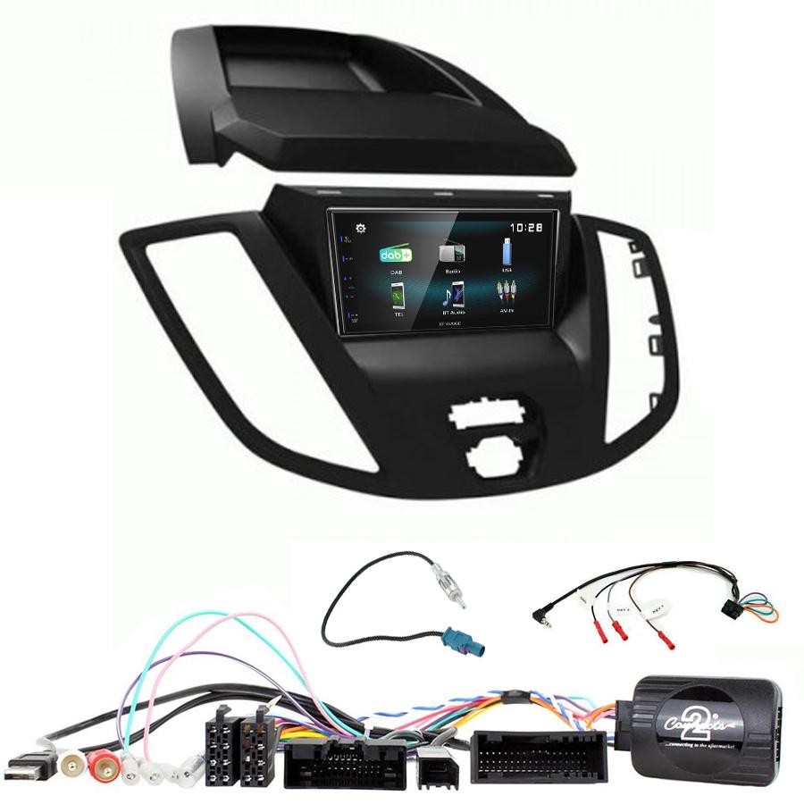 Kit d\'intégration Ford Transit de 2015 à 2019 + Autoradio multimédia à écran tactile