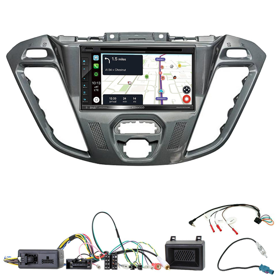 Kit d\'intégration Ford Transit Custom et Tourneo Custom + Autoradio tactile Navigation GPS