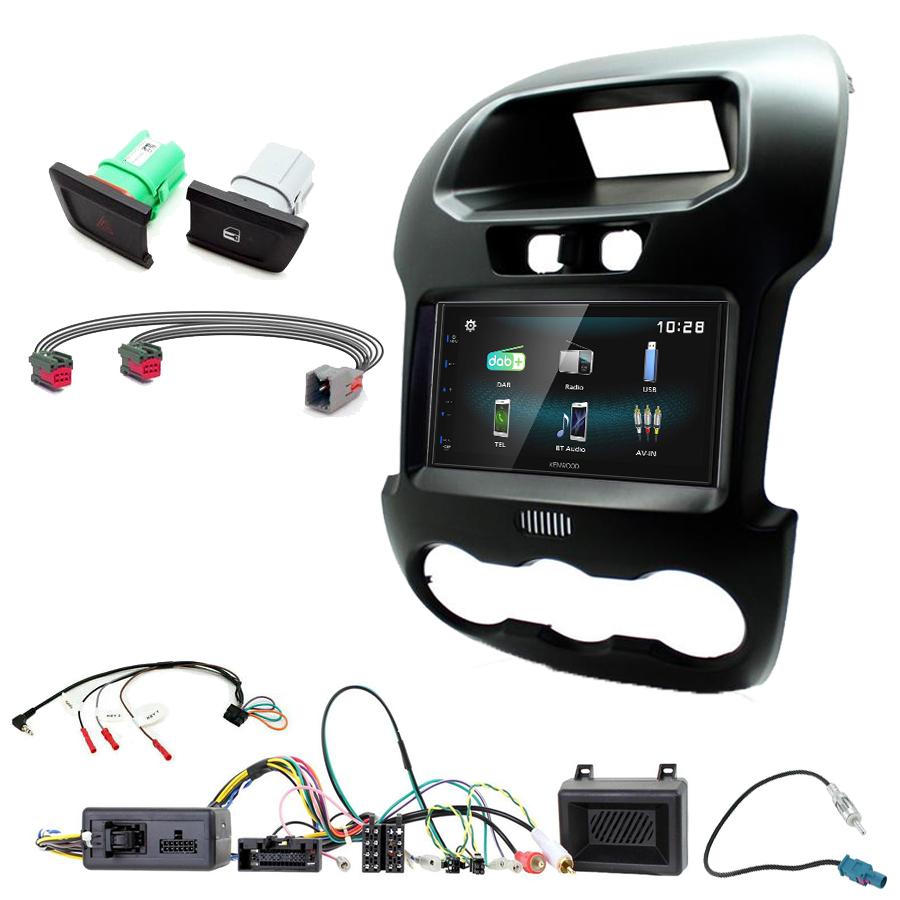 Kit d\'intégration Ford Ranger de 2012 à 2015 + Autoradio multimédia à écran tactile