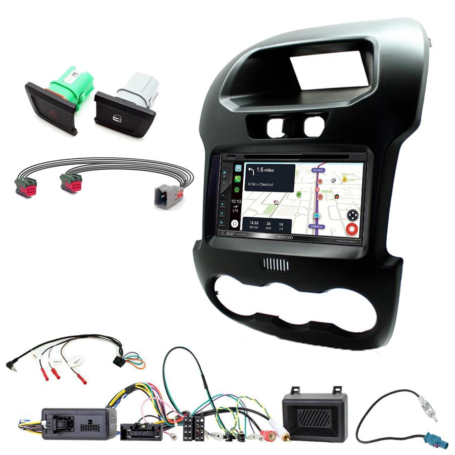 Kit d\'intégration Ford Ranger de 2012 à 2015 + Autoradio tactile Navigation GPS