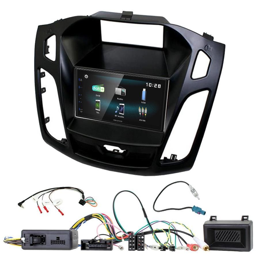 Kit d\'intégration Ford Focus de 2015 à 2018 + Autoradio multimédia à écran tactile