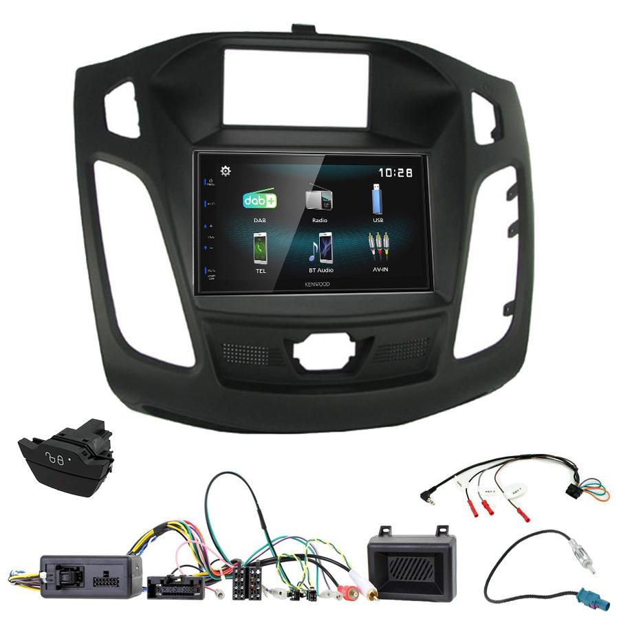 Kit d\'intégration Ford Focus de 04/2011 à 11/2014 + Autoradio multimédia à écran tactile