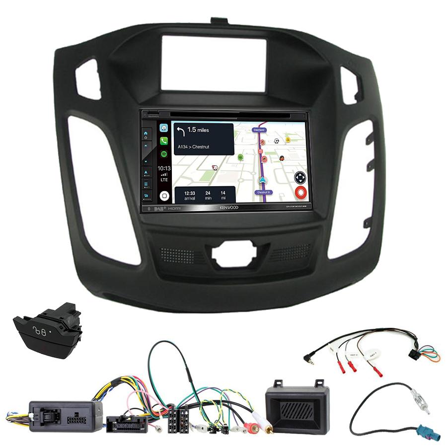 Kit d\'intégration Ford Focus de 04/2011 à 11/2014 + Autoradio tactile Navigation GPS