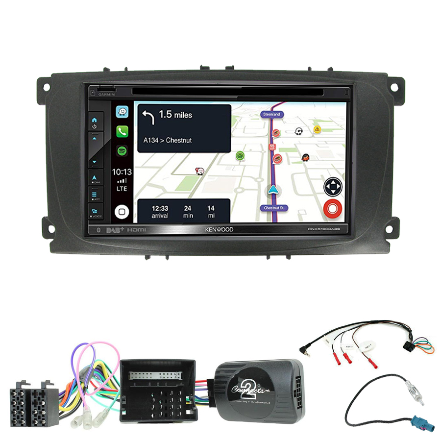 Kit d\'intégration Ford C-Max et Focus de 2007 à 2010 + Autoradio tactile Navigation GPS