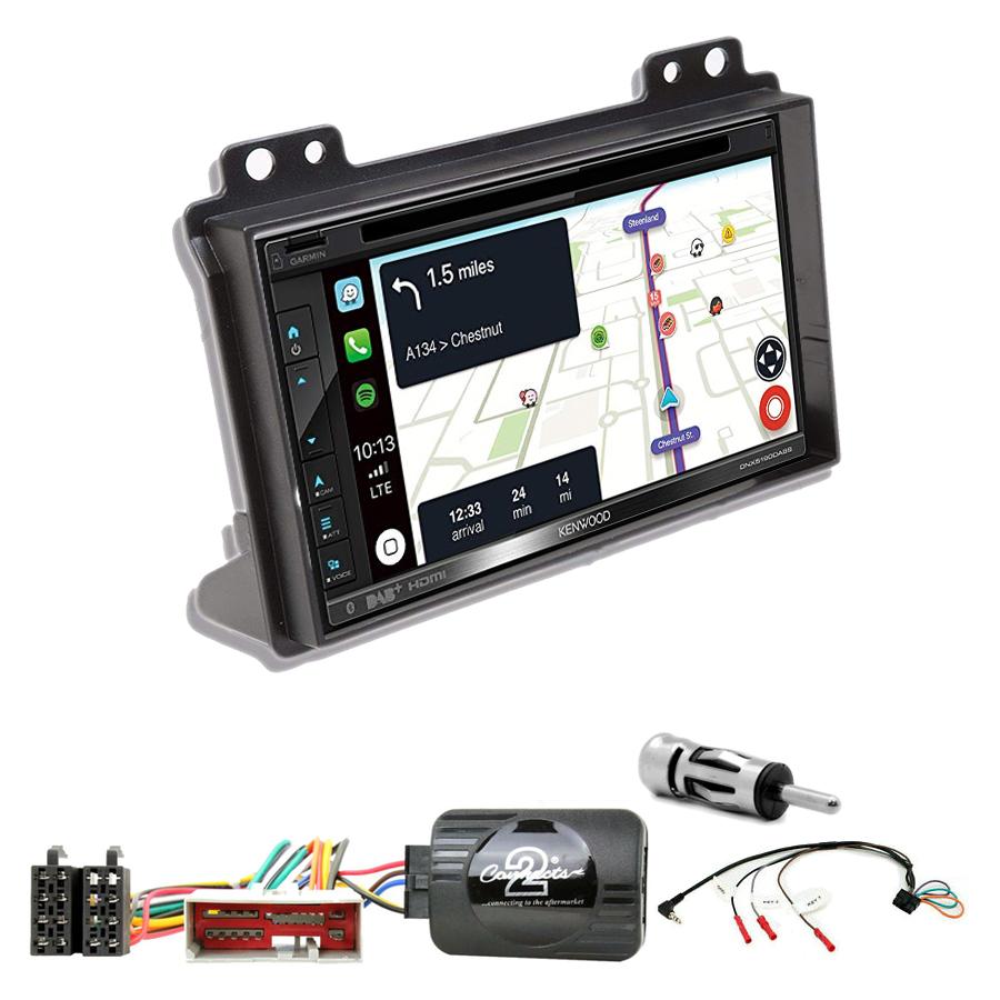 Kit d\'intégration Ford Fusion et Fiesta de 2002 à 2005 + Autoradio tactile Navigation GPS