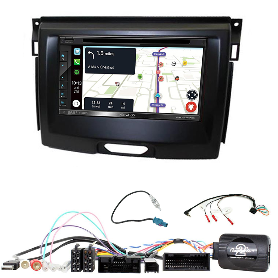 Kit d\'intégration Ford Everest et Ranger + Autoradio tactile Navigation GPS