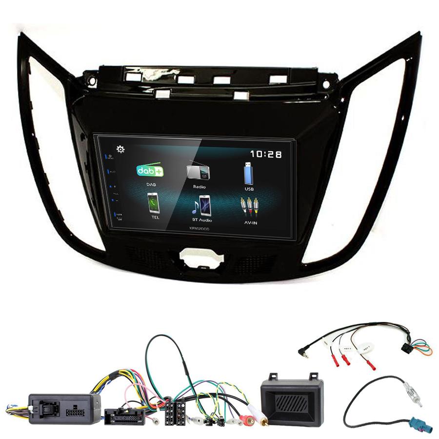 Kit d\'intégration Ford C-Max et Kuga + Autoradio multimédia à écran tactile