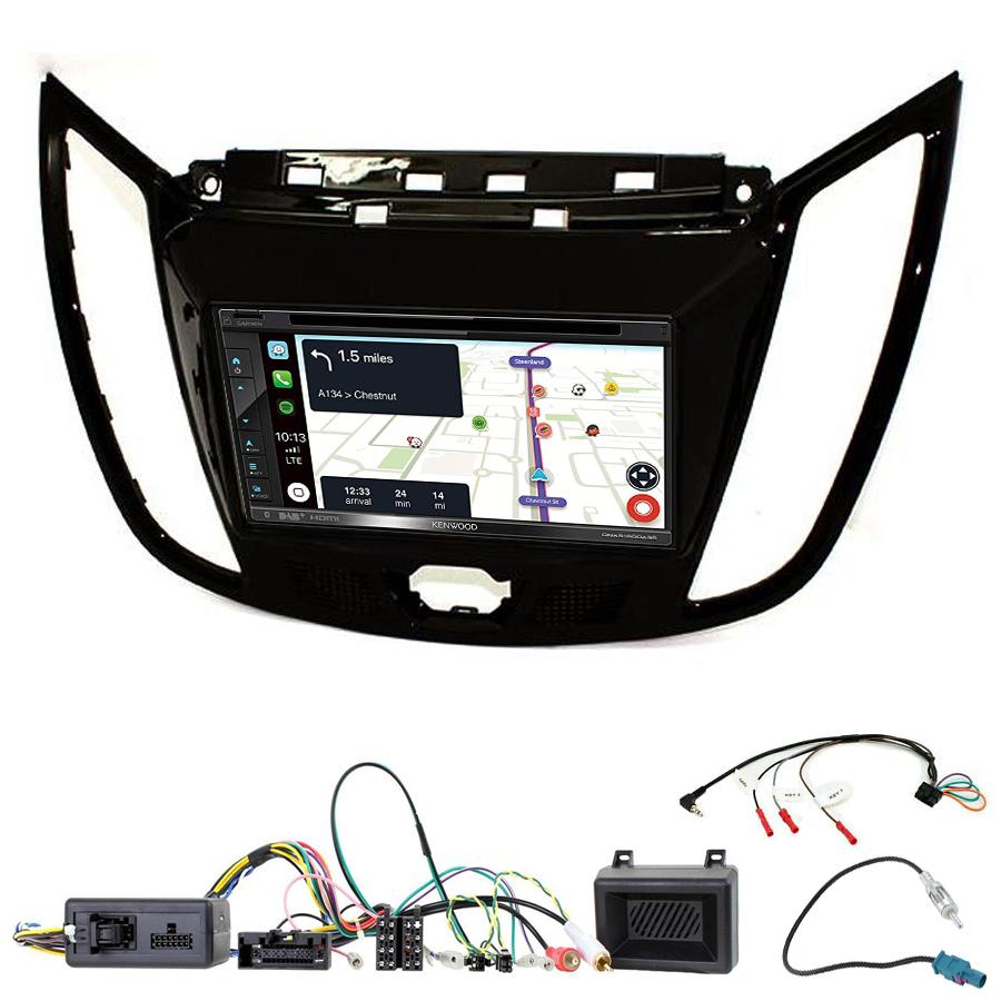Kit d\'intégration Ford C-Max et Kuga + Autoradio tactile Navigation GPS