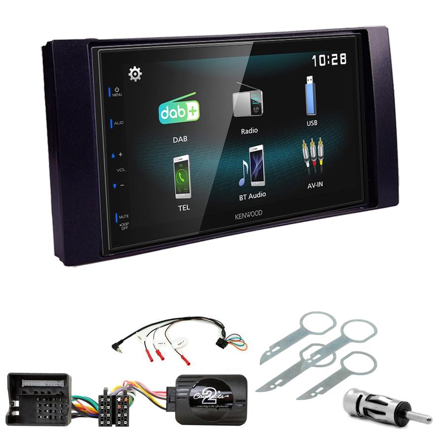 Kit d\'intégration Ford C-Max, Kuga, Focus, Fiesta, Fusion, Transit, S-Max + Autoradio multimédia à écran tactile