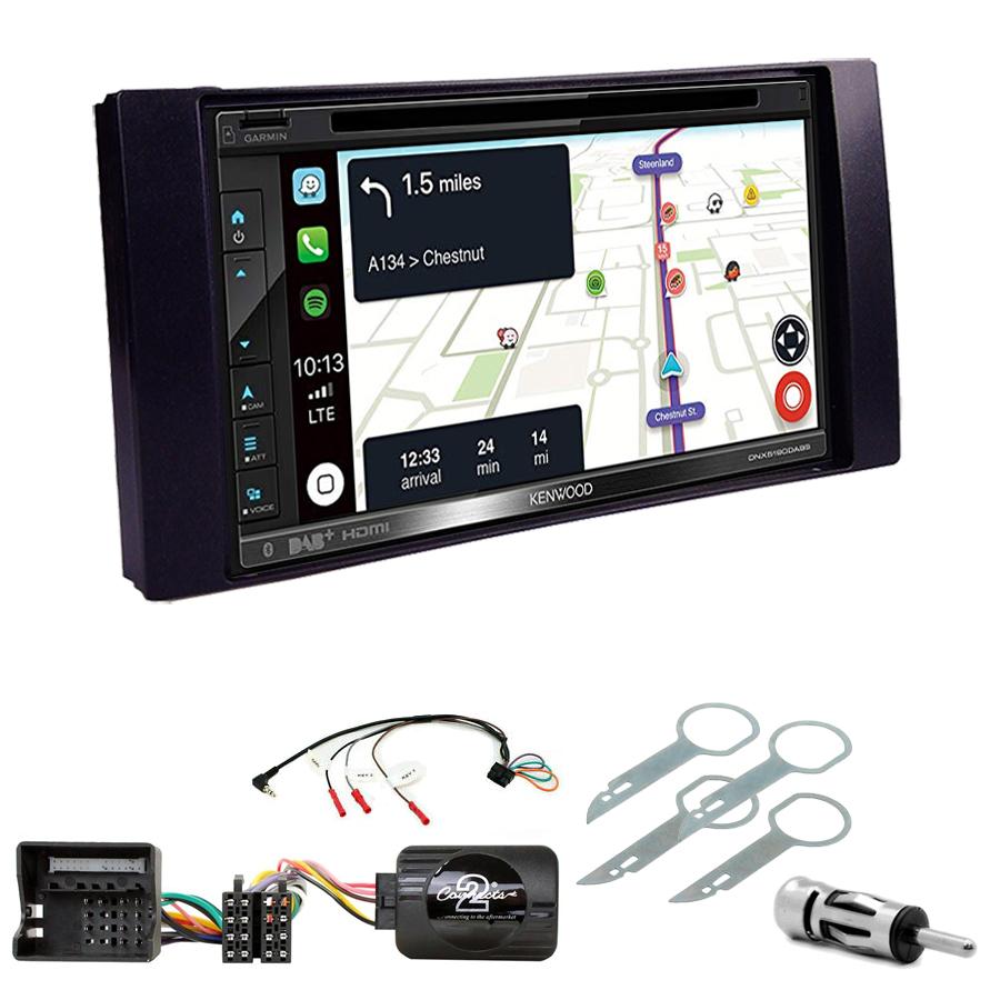 Kit d\'intégration Ford C-Max, Kuga, Focus, Fiesta, Fusion, Transit, S-Max + Autoradio tactile Navigation GPS