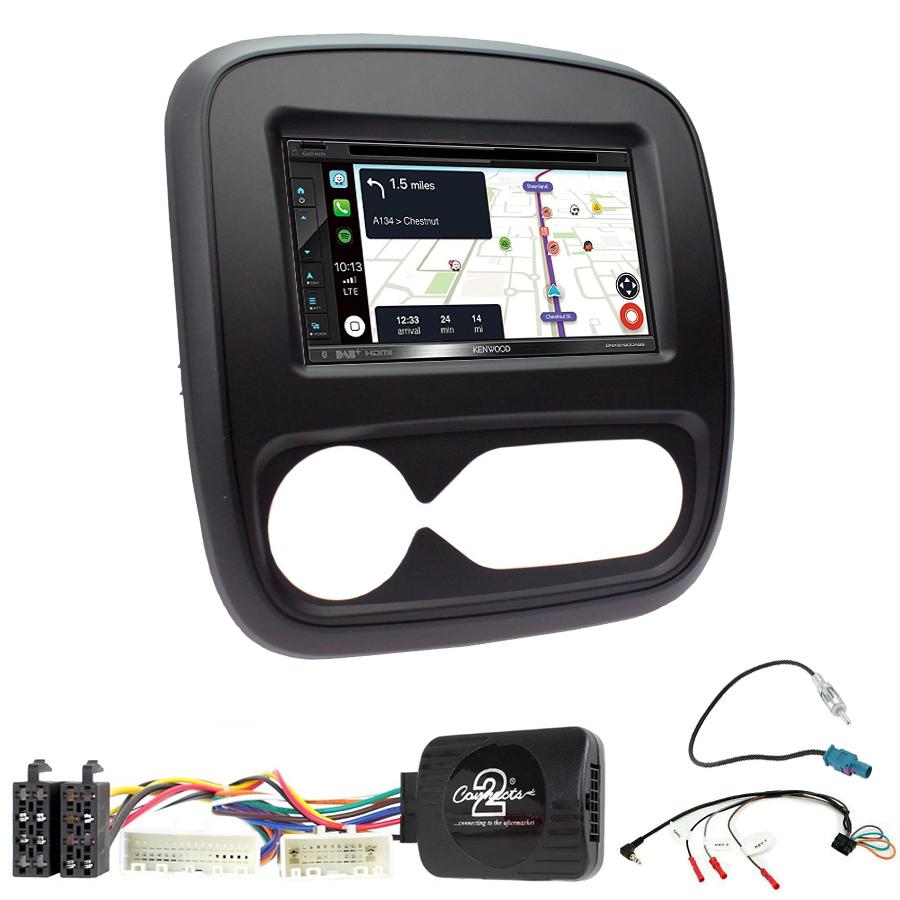 Kit d\'intégration Renault Trafic de 2014 à 2019 + Autoradio tactile Navigation GPS