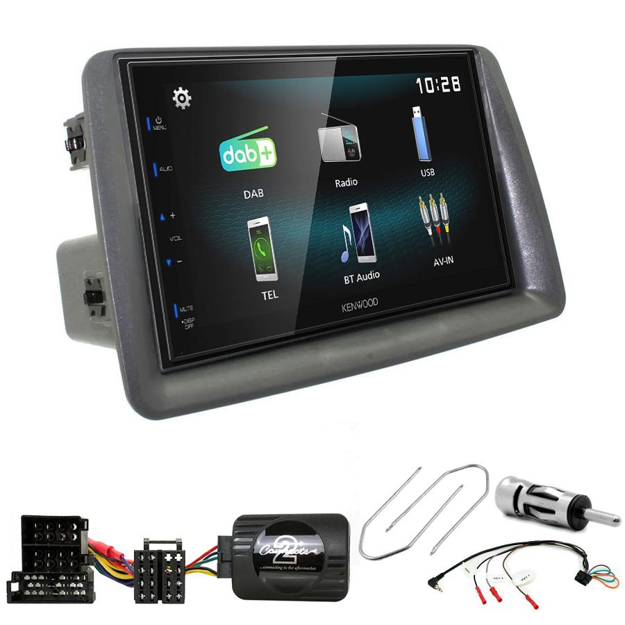 Kit d\'intégration Fiat Panda de 2003 à 2012 + Autoradio multimédia à écran tactile
