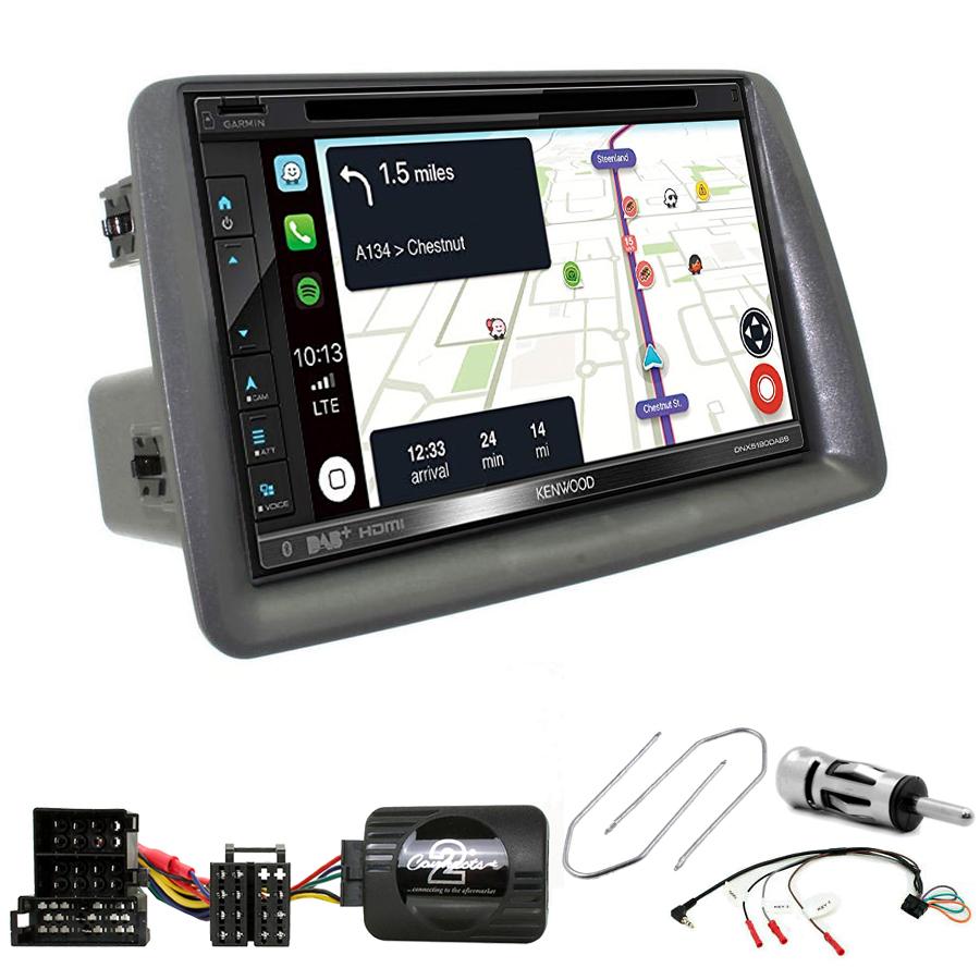 Kit d\'intégration Fiat Panda de 2003 à 2012 + Autoradio tactile Navigation GPS