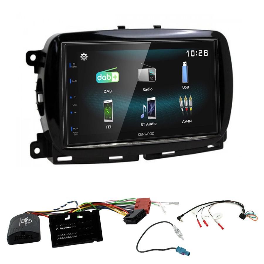 Kit d\'intégration Fiat 500 depuis 2016 + Autoradio multimédia à écran tactile