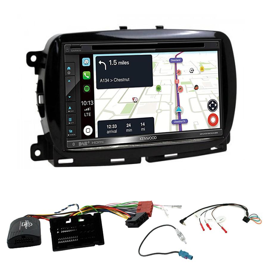 Kit d\'intégration Fiat 500 depuis 2016 + Autoradio tactile Navigation GPS