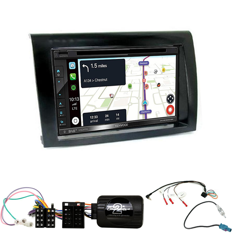 Kit d\'intégration Fiat Bravo + Autoradio tactile Navigation GPS