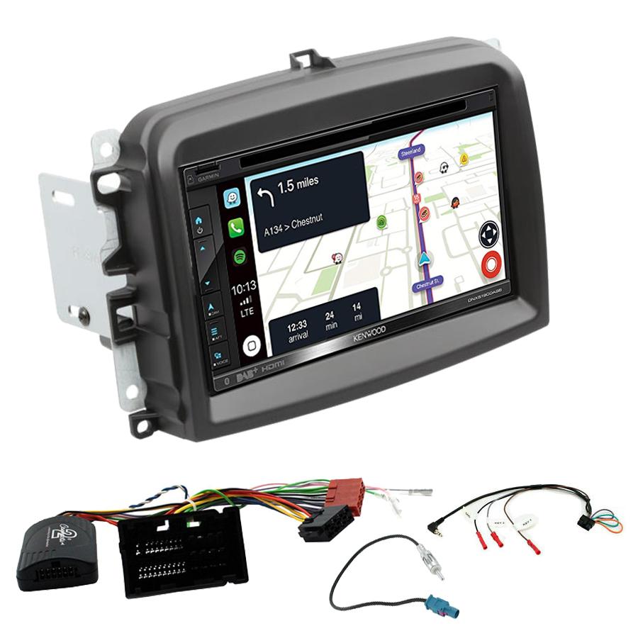 Kit d\'intégration Fiat 500L + Autoradio tactile Navigation GPS
