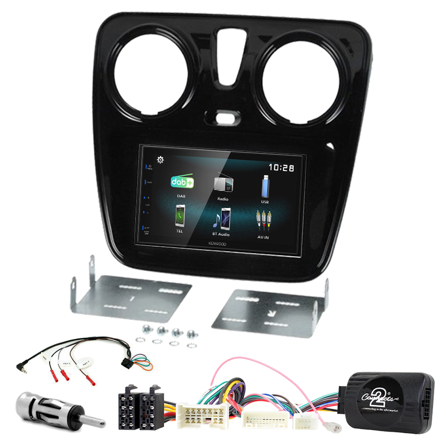 Kit d\'intégration Dacia Dokker Duster Lodgy Logan Sandero + Autoradio multimédia à écran tactile