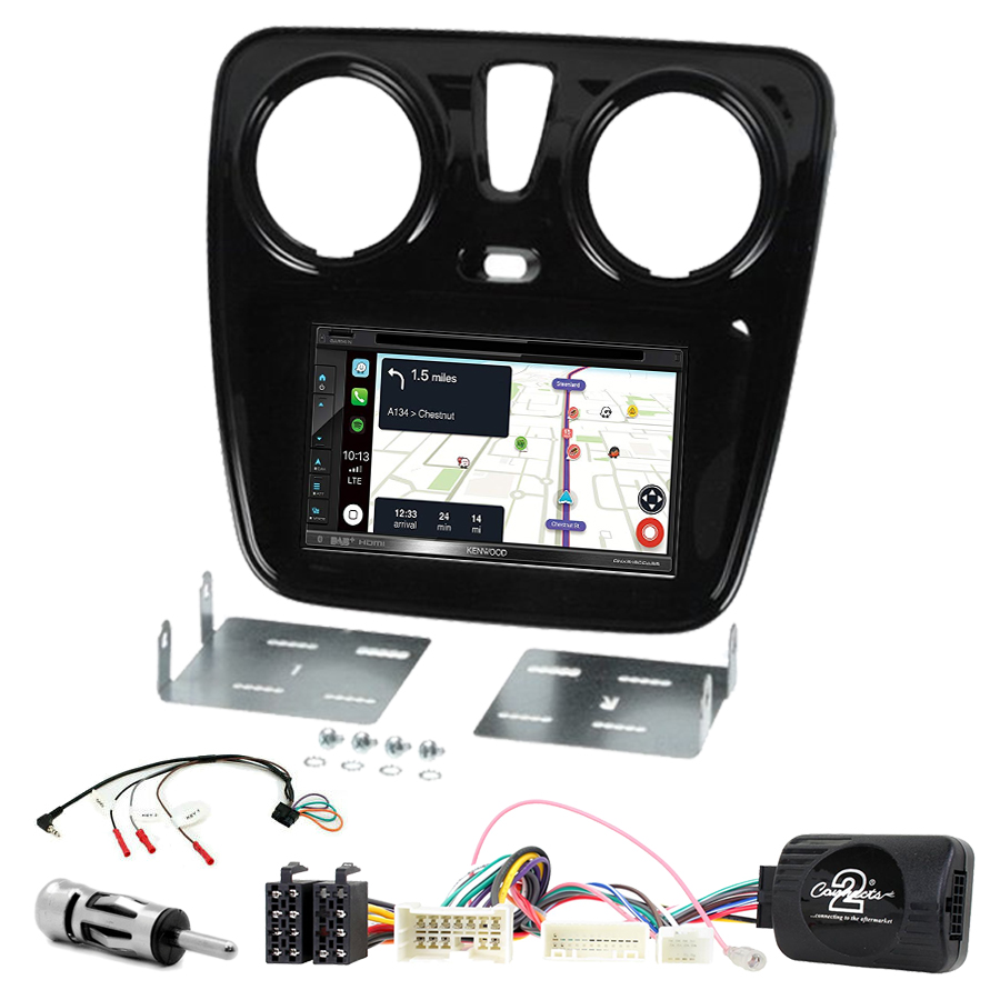 Kit d\'intégration Dacia Dokker Duster Lodgy Logan Sandero + Autoradio tactile Navigation GPS