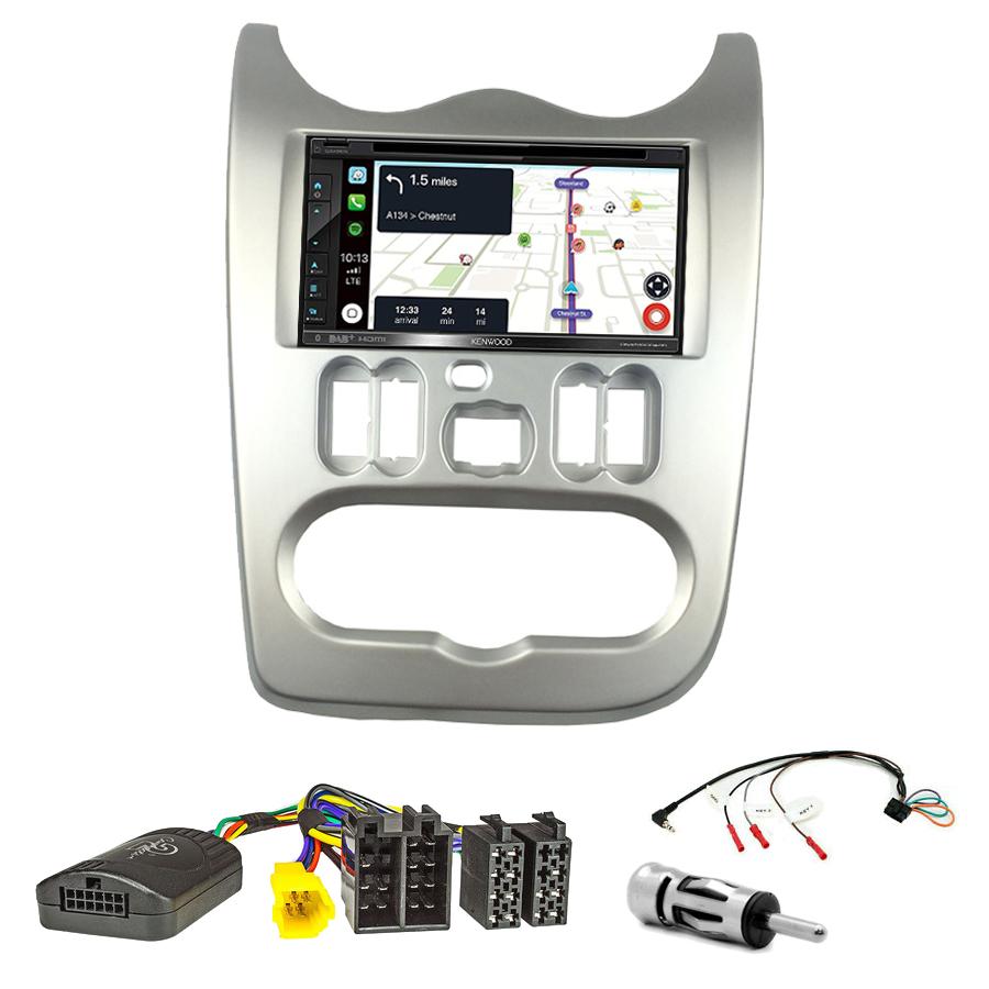 Kit d\'intégration Dacia Duster, Logan et Sandero de 2010 à 2012 + Autoradio tactile Navigation GPS