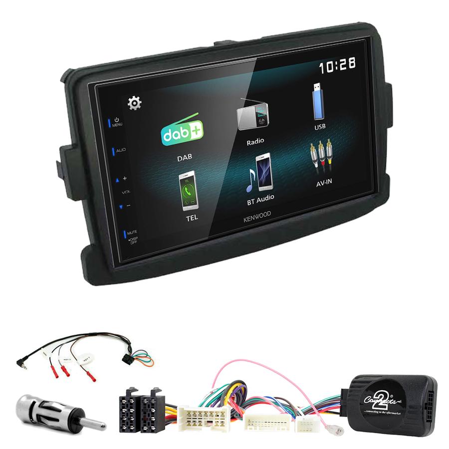 Kit d\'intégration Dacia Dokker Duster Lodgy Sandero Logan + Autoradio multimédia à écran tactile
